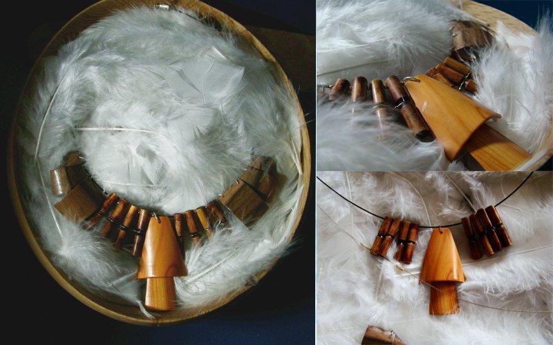 L'envol du Ara, collier. dans Bijoux tournés envolara