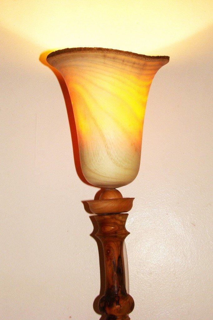 lampe abajour en bois