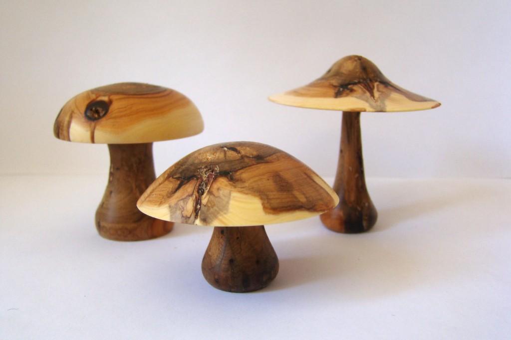 Champignons de bois (vendu) dans trophées, sculptures, autres... 3champi